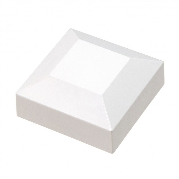 "2"" Sq. Flat Vinyl Post Cap For Aluminum Post (White)"