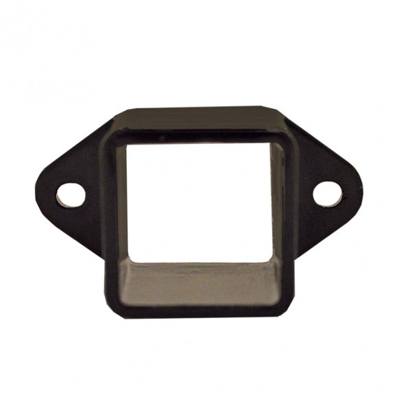 Durables Black Commercial Rail End Bracket - ABAL-CREB