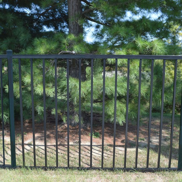 Durables 4' High Canfield Picket Fence (Black)