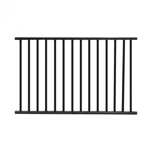 Durables Canfield 4' X 6' Aluminum Black Fence Panel