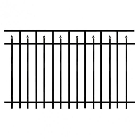 Durables 4' X 6' Canton Aluminum Black Fence Panel