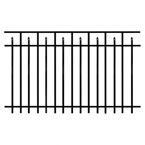 Durables Canton 5' X 6' Aluminum Black Fence Panel
