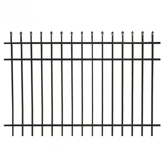 Durables Olmsted 4' X 6' Aluminum Black Fence Panel