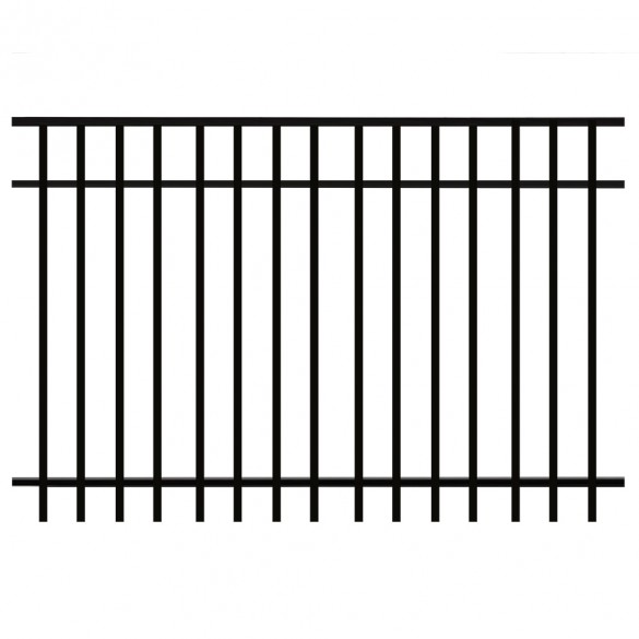 Durables Parma 5' X 6' Aluminum Black Fence Panel
