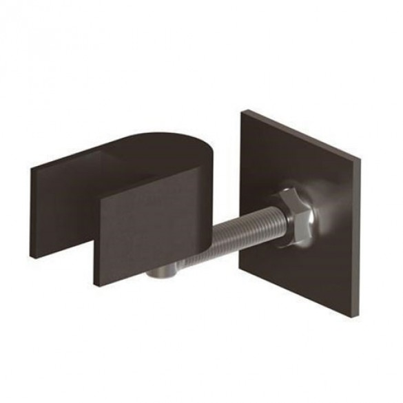 "Heavy Duty Estate Gate Hinge For 2"" Frame, Horizontally Adjustable (Black)"