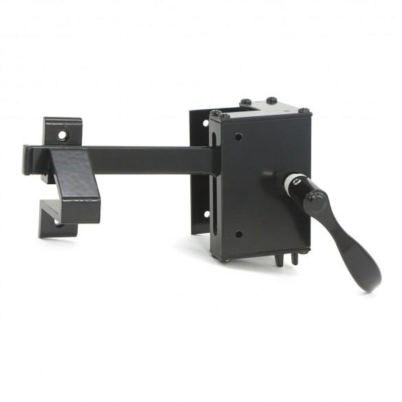 Elite Aluminum Fence Gate Latch-Lock Box, Standard (Black)