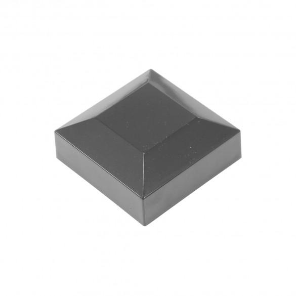 """2"""" Sq. Flat Vinyl Post Cap For Aluminum Post (Black)"""