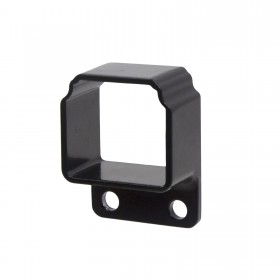 Straight Wall Mount Bracket For Aluminum Commercial Deco Rail Ultra / OnGuard / Alumi-Guard - Powder Coated Black