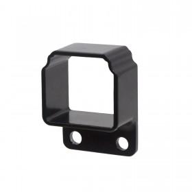 Straight Wall Mount Bracket For Aluminum Commercial Deco Rail Ultra / OnGuard / Alumi-Guard - Powder Coated Black