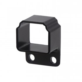 Straight Wall Mount Bracket For Aluminum Residential Deco Rail Ultra / OnGuard / Alumi-Guard - Powder Coated Black