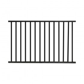 Durables Canfield 4' X 6' Aluminum Black Fence Panel - PBAL-FLTP2-4X6FL