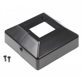 "2 Piece Cover Plate for 2"" Floor Flange - Flange Cover  Black"