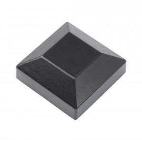 """Post Cap For 1 1/2"""" x 1 1/2"""" Square Aluminum Fence Post - Black"""
