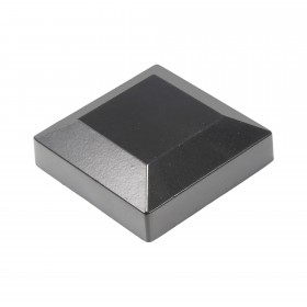 "Post Cap For 2 1/2"" Square Aluminum Fence Post - Black"