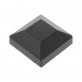 "2"" Sq. Aluminum Flat Post Cap For 2"" Square x 2"" Square Aluminum Fence Post (Black)"