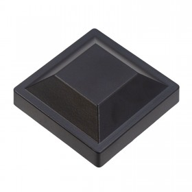 "Post Cap For 3"" Square Aluminum Fence Post - Black"