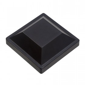 "Post Cap For 4"" Square Aluminum Fence Post - Black"