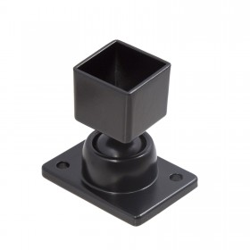 "1"" x 1"" Adjustable Swivel Ball Bracket Aluminum Fence - Black"