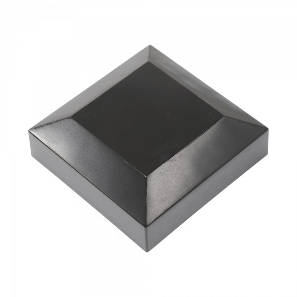 "2 1/2"" Sq. Vinyl Post Cap For Aluminum Post (Black)"