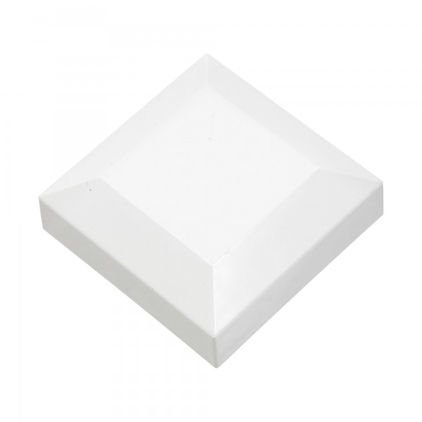 "2 1/2"" Sq. Vinyl Post Cap For Aluminum Post (White)"