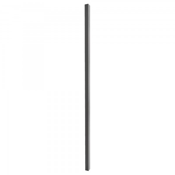 "Black Aluminum Blank Post 2"" x 2"" x 7' - ABP27B"