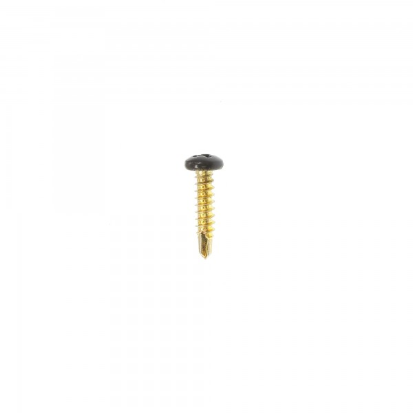 "Elite Aluminum Fence #8 x 3/4"" Stainless Steel Self Drill Screw (Black Screw Head)"