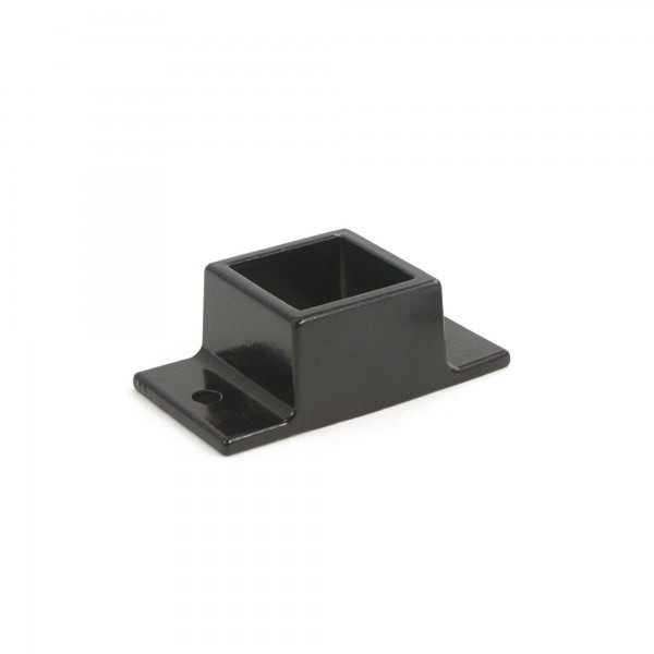 """Jerith Aluminum Fence Standard Wall Mount 1"""" x 1"""" - Residential (Black)"""
