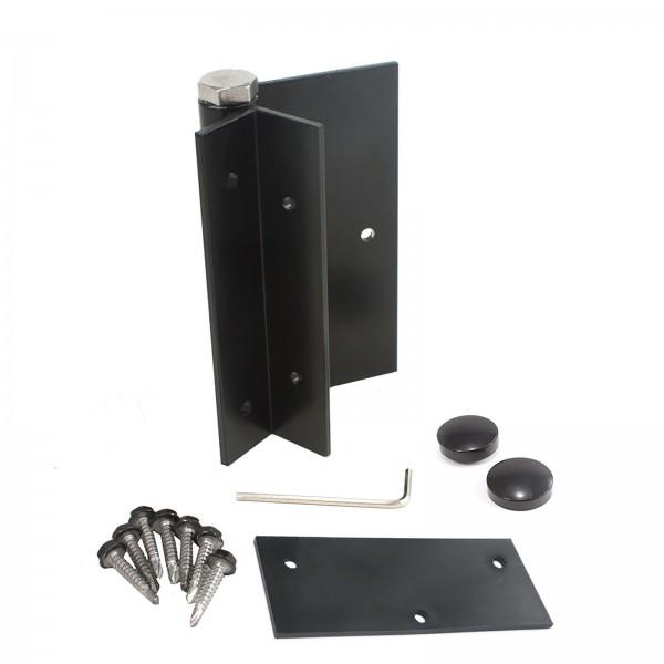 Jerith Aluminum Fence Residential Self Closing Gate Hinge (Single) (Black)