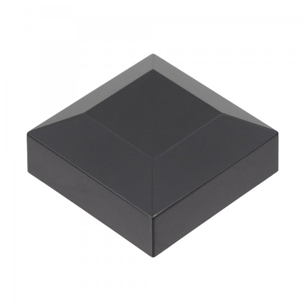"2"" Sq. Flat Vinyl Post Cap For Aluminum Post (Black)"