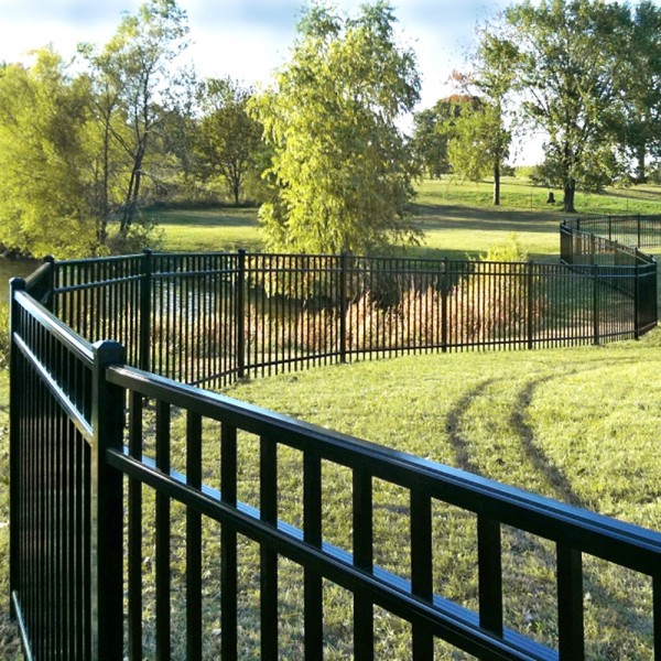 Durables 4' High Parma Picket Fence (Black)