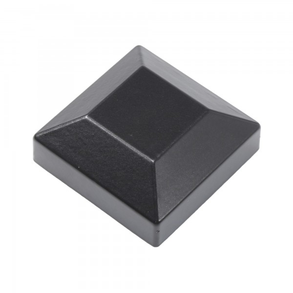 "Post Cap For 1 1/2"" x 1 1/2"" Square Aluminum Fence Post - Black"