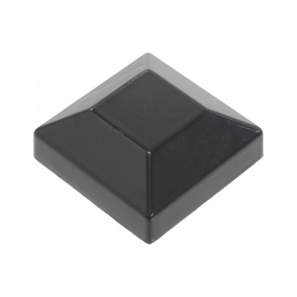 """Post Cap For 2"""" Square x 2"""" Square Aluminum Fence Post - Black"""