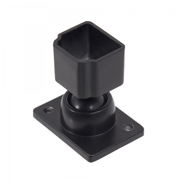 Swivel Wall Mount Bracket For Aluminum Adjustable Residential Deco Rail Ultra / OnGuard / Alumi-Guard - Powder Coated Black