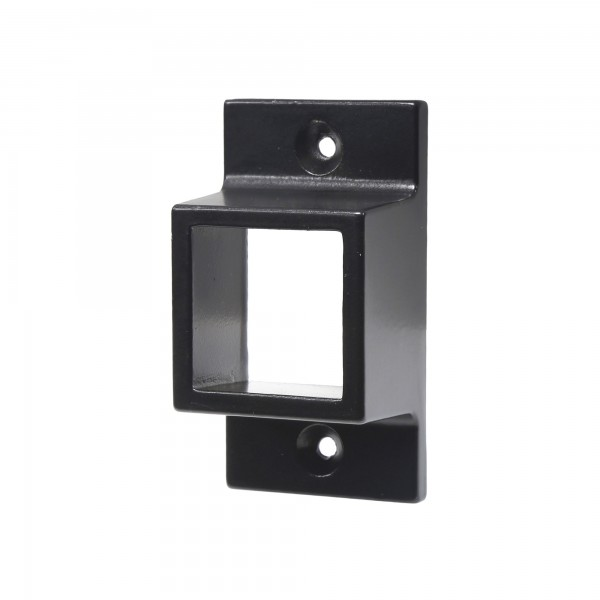 """Aluminum Fence Standard Wall Mount 1"""" x 1"""" for Rails - Residential (Black)"""