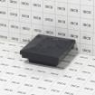 "2"" Sq. Ornamental Vinyl Post Cap For Aluminum Fence Posts (Black) - Grid Shown For Scale"
