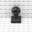 """Aluminum Ball Post Cap For 2"""" Square Aluminum Fence Post - Black (Grid Shown For Scale)"""