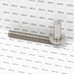 "Heavy Duty Commercial Aluminum Estate Gate Hinge For 2"" Frame, Horizontally Adjustable - Black (Grid Shown For Scale)"