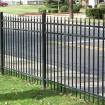 Durables 4' High Olmsted Picket Fence (Black)