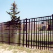 Durables 5' High Parma Picket Fence (Black)