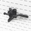 Universal Gravity Latch For Ornamental Fence (Black) - Grid Shown For Scale
